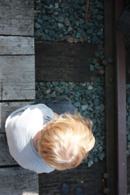 At the train track in Agassiz, BC - Summer 2009