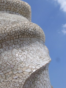 The roof of the La Pedrera Apartments by Gaudi in Barcelona, Spain - Summer 2005