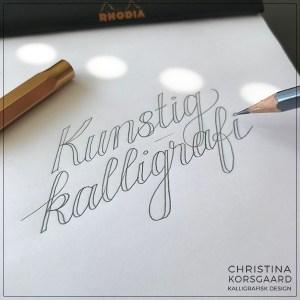 Kunstig kalligrafi - optegning