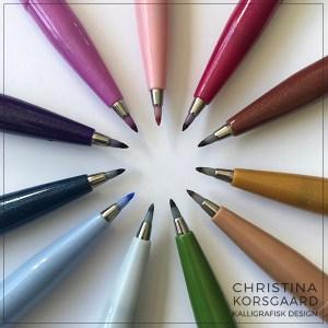 Pentel Brush Sign Pen - farver