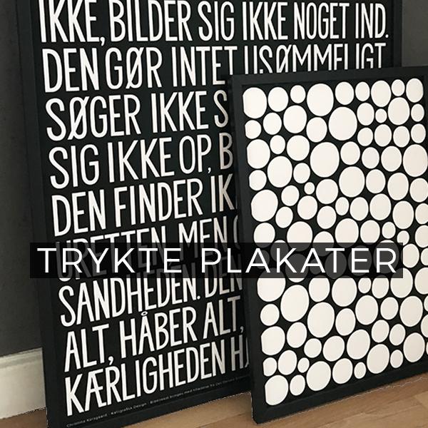 Trykte plakater