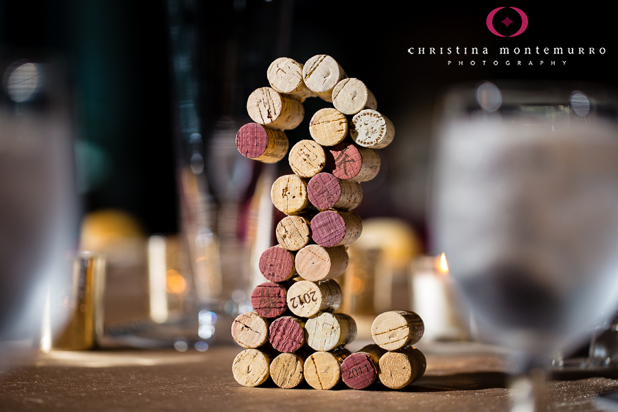 Wedding Reception Table Numbers Made From Corks