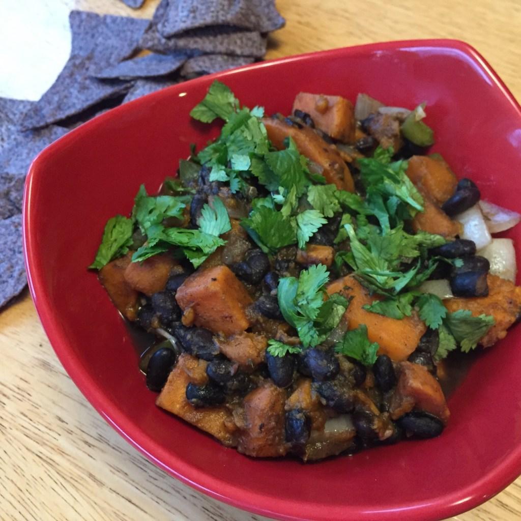 black bean sweet potato soup