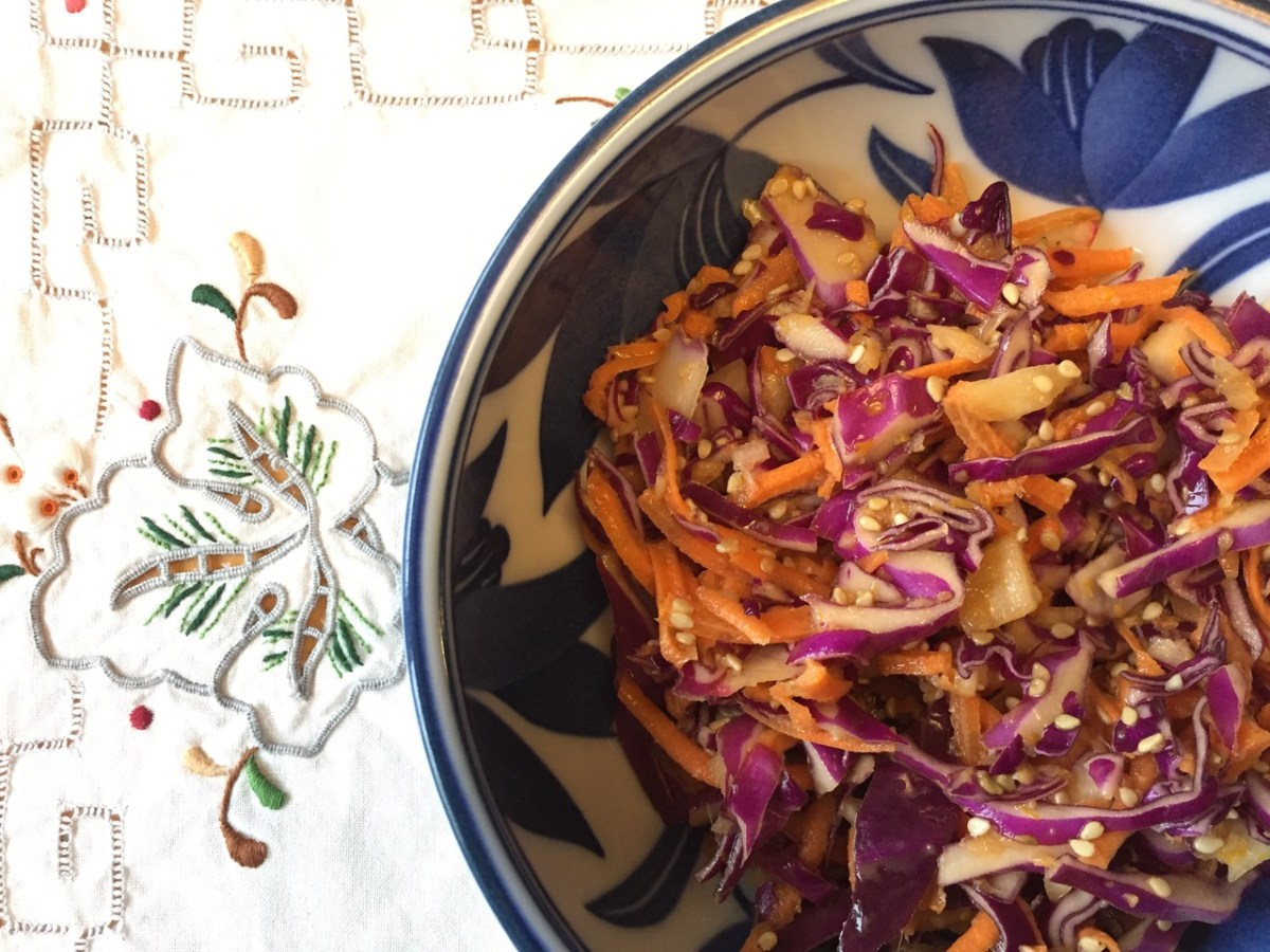 Ginger Orange Sesame Slaw