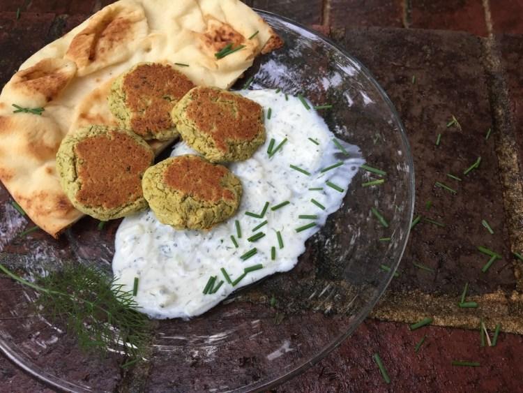 falafel with tzatziki sauce