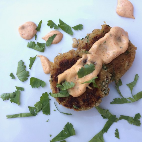 Crab Cakes with Hot Pepper Aioli