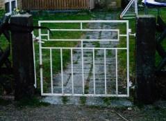 Järnsmidesgrind från 1950-tal / Ironwork gate from 1950s.