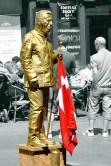 Golden man in Copenhagen
