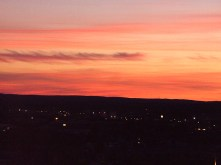 Sunset from Umeå, Sweden