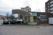 Older retired gasstation on Mellanheden, Malmö from the other side.