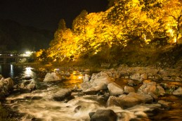 And the lighted trees by the stream in Korankei valley.