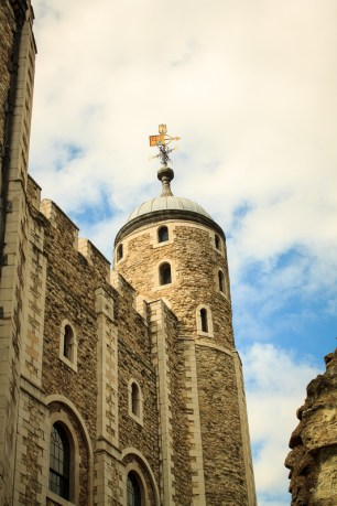 The White Tower in London.