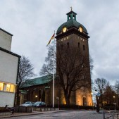 Caroli church in Borås was originally built in 1669.