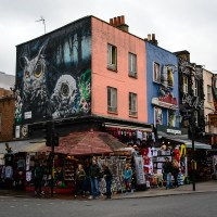 Mural in Camden in London