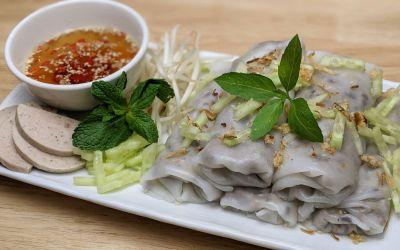Crêpes roulées vietnamiennes (banh cuon)