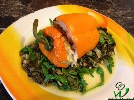 Gefüllte Paprika mit Limettengrün