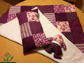 Patchwork Babyset lila