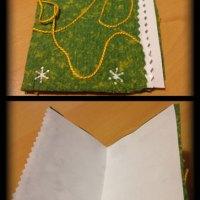 Basteln mit geschöpften Papier
