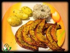 Kürbispommes-mit-Kräuterreis