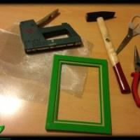 Rahmen fürs Papierschöpfen bauen