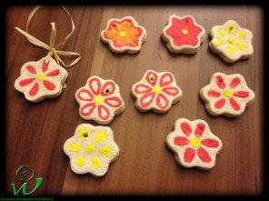 Salzteig-Blumen