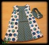 blaues-selbermacher-Kleidchen-Gr-86