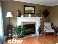 Living Room Make-Over! {Tan, White, Blue} - Christinas ...