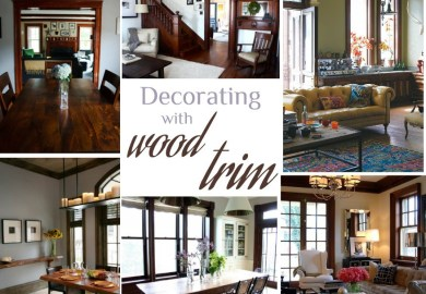 Decorating Around Wood Trim