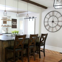 Kitchen Island Chairs With Backs Cabinet Clearance Diy Farmhouse Makeover: All The Details ...