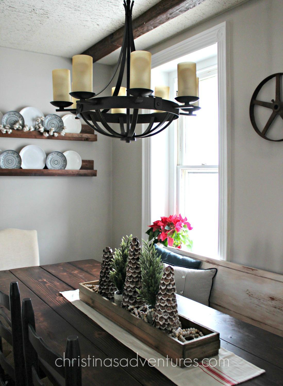 lighting over kitchen table dark floors farmhouse chandelier christinas adventures