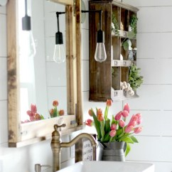 American Standard Kitchen Sinks Chimney Without Exhaust Pipe Vintage Inspired Farmhouse Bathroom Makeover - Christinas ...