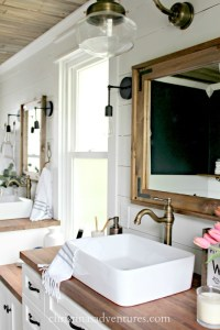 Vintage Inspired Farmhouse Bathroom Makeover - Christinas ...