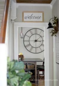 Where to buy farmhouse wall clocks - Christinas Adventures