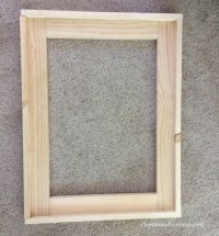 DIY wood framed bathroom mirror