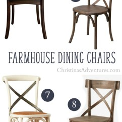 Farmhouse Dining Chairs Crate And Barrel Parsons Chair Slipcover Where To Buy X Back Christinas Adventures Best Sources Online