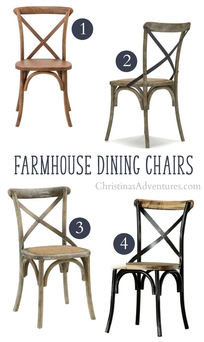 farmhouse dining chairs graco 4 in one high chair where to buy x back christinas adventures solid wood online