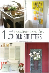 Creative Ways To Use Old Shutters - newlibrarygood.com