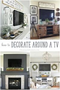 How to decorate around a TV - Christinas Adventures