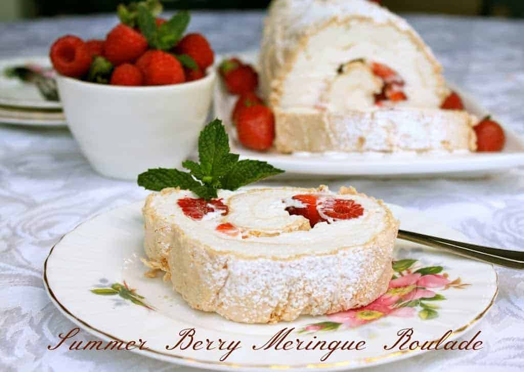 Summer Berry Meringue Roulade  Christinas Cucina