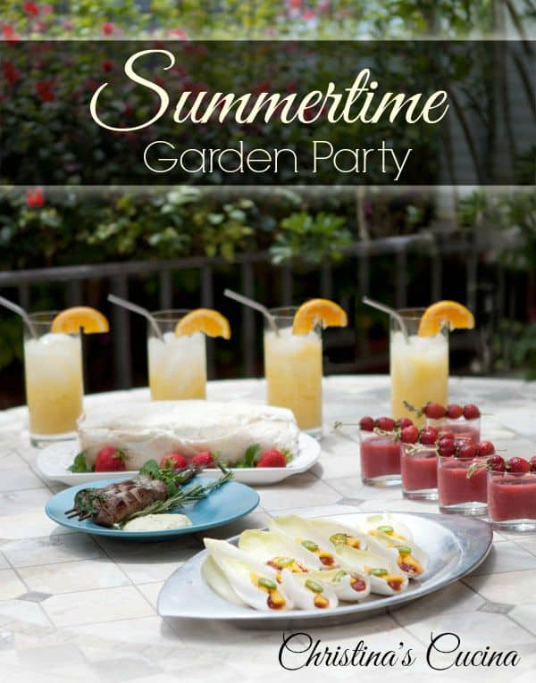 A Summertime Garden Party Easy Summer Entertaining Menu Ideas