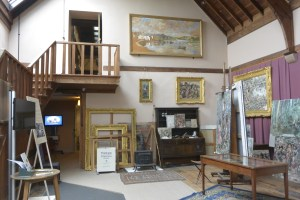 Hornel's studio
