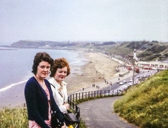 Anabel and Elspeth in Scarborough