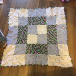 The longest granny square blanket I have ever made! Front.