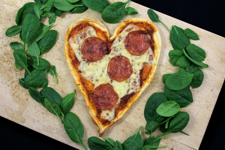 Valentinstag - Pizza mit Herz