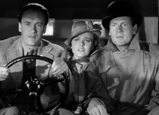 George Sanders, Laraine Day, Joel McCrea chase the villain