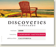 Label of Discoveries Vineyards 09 Cabernet
