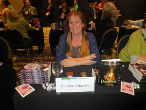Photo of Christine Ashworth at the booksigning.