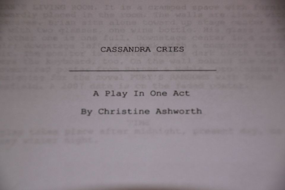 Title page to Cassandra Cries.