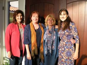 Left to Right, Julia Blake, me, Kat, and Tonya Plank - a lovely lunch!