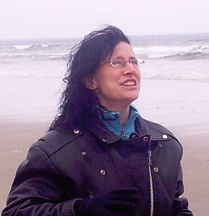 Teresa Noelle Roberts, on a beach Somewhere in Maine.